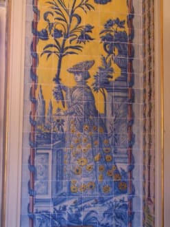 Azulejos im alten Königsschloss Que Luz - Palácio Nacional de Queluz