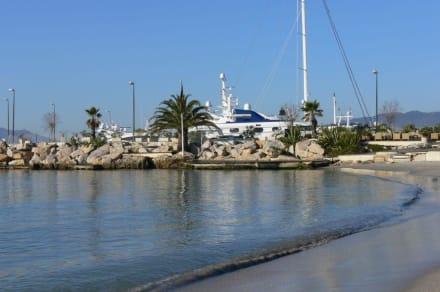 Blick vom Strand - Strand Cannes