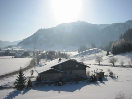 Ausblick v. Balkon - Landhaus Sammer Hotel Garni