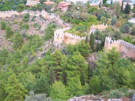 Blick von oben - Burg von Alanya  (Ic Kale)