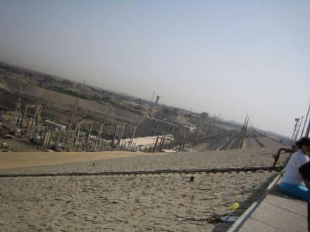 Blick auf die Kraftwerksanlage am Assuan-Hochdamm. - Assuan Staudamm