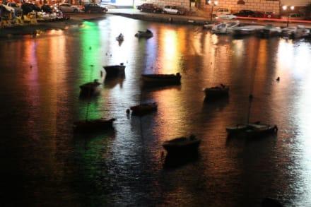 Fischerhafen bei Nacht - Hafen Agios Nikolaos