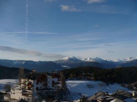 Aussicht vom Zimmer / Balkon - Hotel Salten