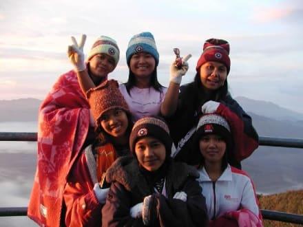Indonesische Mädels am Mt. Bromo - Bromo Vulkan