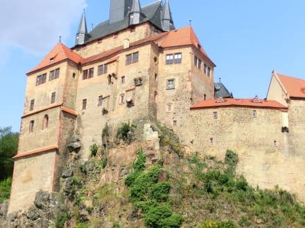 Burg von der Grunau aus - Burg Kriebstein