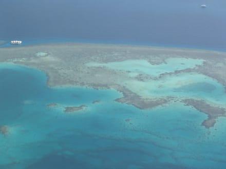 Bild aus der Luft - Schnorcheln Hurghada