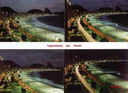 Postkarte - Copacabana bei Nacht - Copacabana