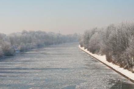 Winterstimmung am Kanal - Hünxer Umland