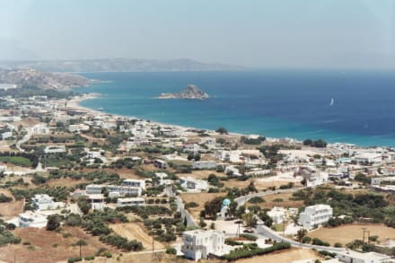 Kos, Bucht von Kefalos mit Insel Kastri - Strand Kos Stadt