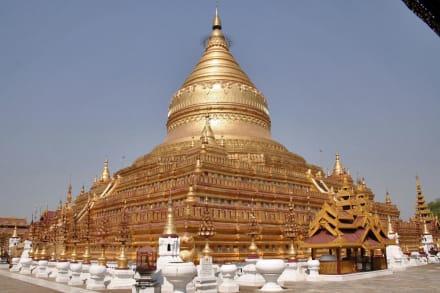 Swezigon Pagode - Goldener Shwezigon Paya Tempel