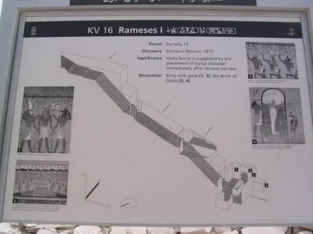 Grab von Ramses dem 1 - Tal der Könige