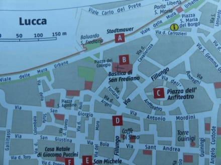 Quot Der Stadtplan Quot Bild Altstadt Lucca In Lucca