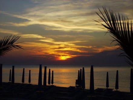 Sonnenuntergang in Peschici - Strand Peschici
