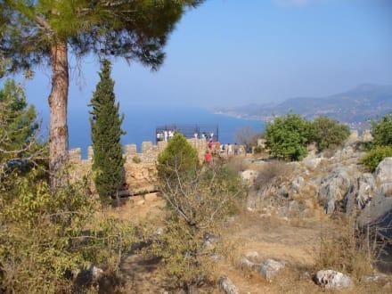 Ausblick. - Burg von Alanya  (Ic Kale)