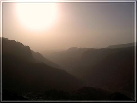 Wadi Dana im Gegenlicht - Dana National Park
