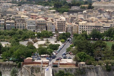 Blick auf Korfu Stadt - Altstadt Kerkyra/Korfu Stadt