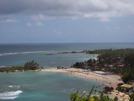 Blick vom Leuchtturm auf den zweiten Stand - Insel Ilha de Tinhare