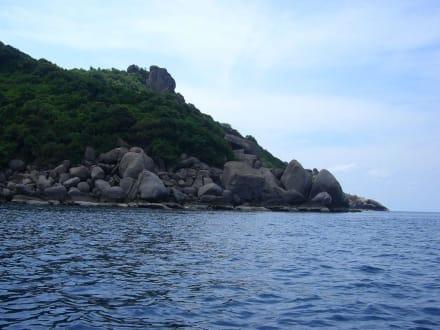 Küste von Koh Nangyuan - Insel Koh Nangyuan / Koh Nang Yuan
