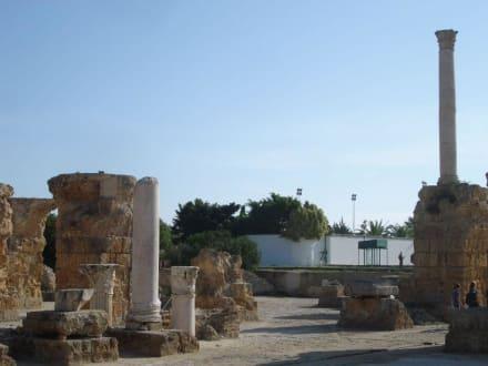 Ruinen, gut bewacht wie der Präsident - Ausgrabungen Karthago