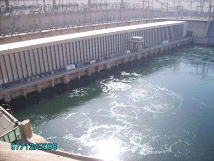 Staudamm Nasser See - Assuan Staudamm