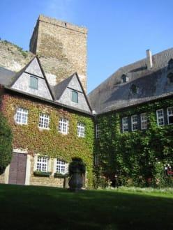 Der erste Innenhof. - Burg Runkel