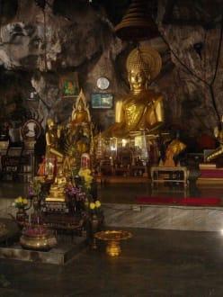Diese Grotte dient als Pilgerstätte - Tiger Cave Tempel (Wat Tham Sua)
