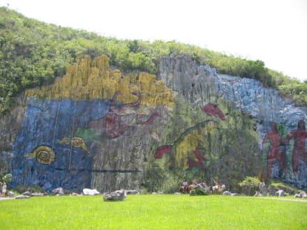 Erdgeschichte - Felsmalerei Mural de la Prehistoria