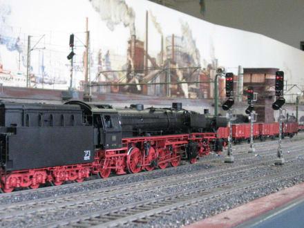 Spur I-Anlage - Dampflok wartet auf Ausfahrt - Museum für Hamburgische Geschichte