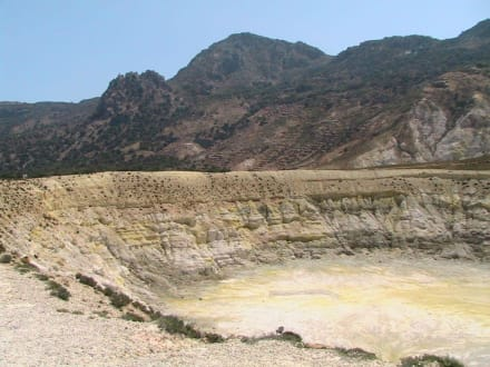 Nisyros Vulkan - Vulkankrater auf Nisyros
