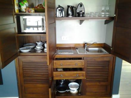 pantryk che ausstattung bild ferienh user appartements im jaich wasserferienwelt in. Black Bedroom Furniture Sets. Home Design Ideas