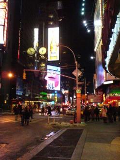Times Sqare am späten Abend  - Times Square