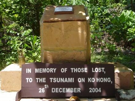 Tsunami Erinnerungstafel - Hong Island/Koh Hong