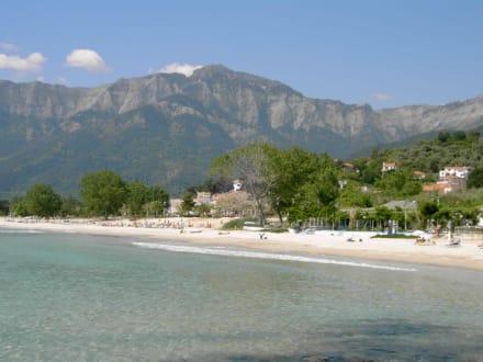 Der Strand von Skala Potamias - Golden Beach