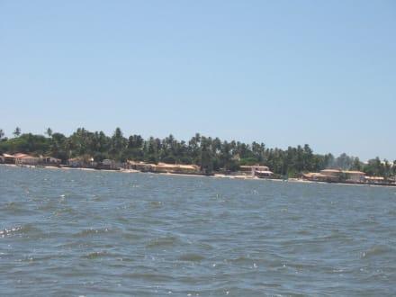 Blick auf Mangue Secos Fischerdörfchen - Fischerdorf Mangue Sêco