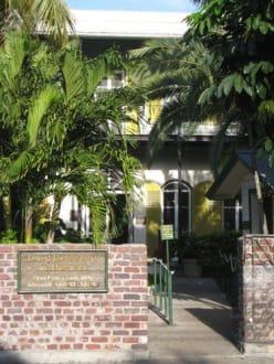 Eingang des Museums - Ernest-Hemingway-Haus