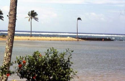 Badebucht vor unserem Bungalow - Korallenküste