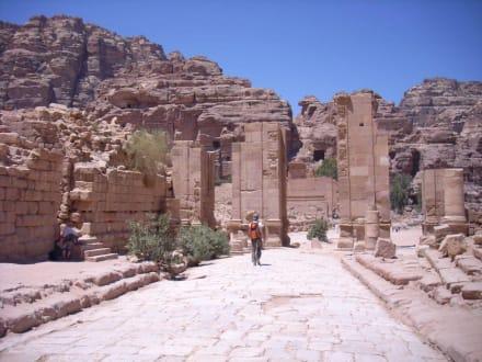 Die Säulenstraße mit dem Haupttempel - Felsenstadt Petra