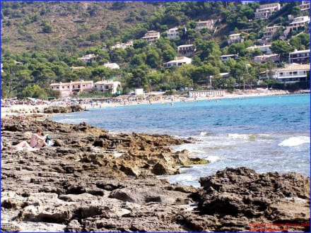 Blick auf den gesamten Strand von Canyamel - Strand Canyamel