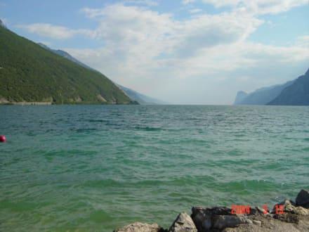 Sicht nach Süden auf den Gardasee - Gardasee