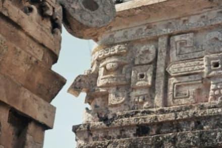 Man muß auch mal nach oben schauen! - Ruine Chichén Itzá