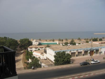 Blick zum Stand. - Strand Agadir