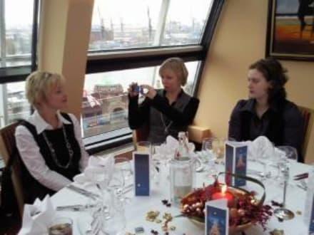 Ausblick auf der Hafen - Restaurant Elbkuppel (Hotel Hafen Hamburg)