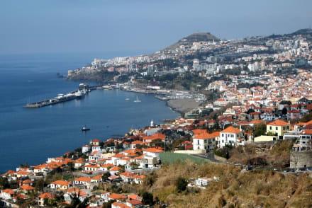 Blick vom Botanischen Garten zum Hafen von Funchal. - Hafen Funchal