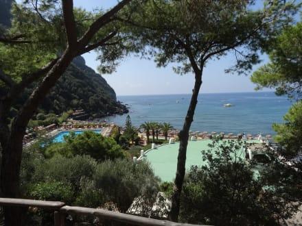 Ausblick auf den Poseidon-Garten - Therme Poseidongärten
