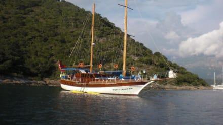 Liegeplatz vor der Nikolaus Insel - Mutlu Kaptan