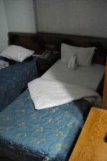 2 Betten, separate Toilette, Waschbecken und Dusch - Hotel Flopater