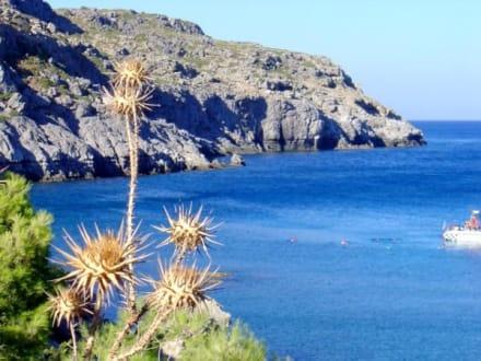 Blick von der kleinen Taverne der Bucht - Anthony Quinn Bucht
