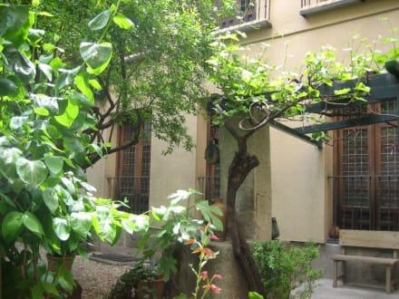 Casa Lope de Vega - Haus vom Garten aus gesehen - Museo Casa de Lope de Vega