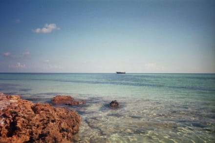 Blick auf das Boot - Robinson Tour