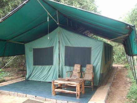 Unser Zelt im Camp - Tsavo Ost Nationalpark